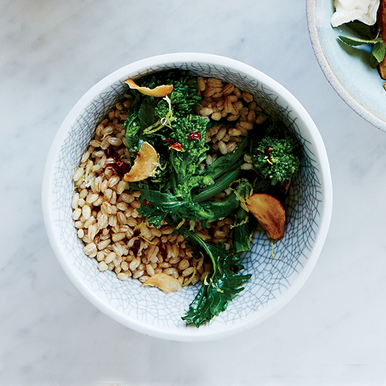 DIY Barley Salad: Broccoli Rabe