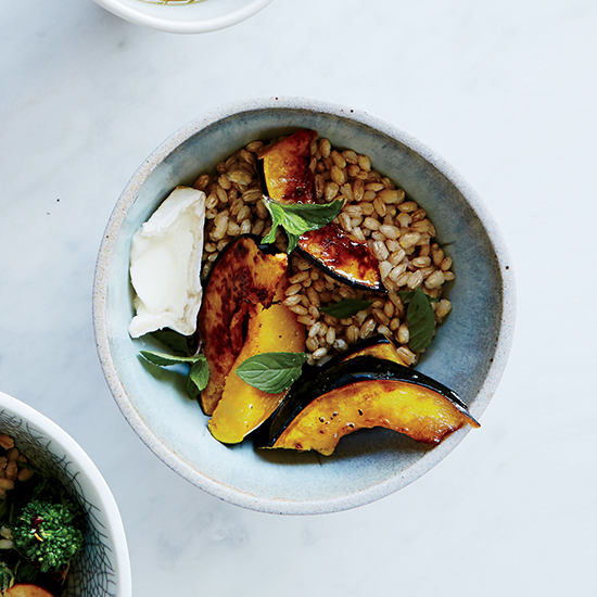 DIY Barley Salad: Roasted Acorn Squash