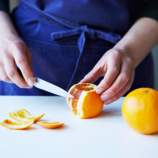 Duck a l'Orange: Trim the orange