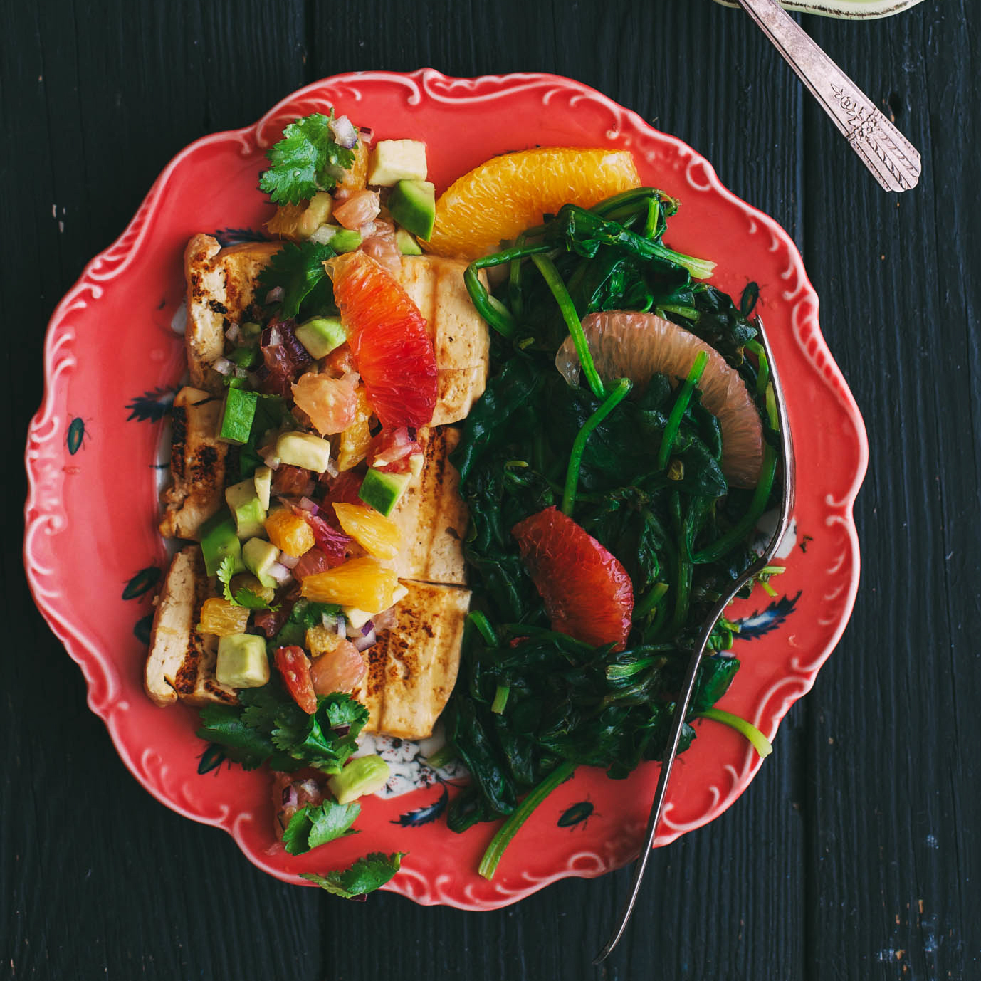 Grilled Marinated Tofu with Citrus Salsa