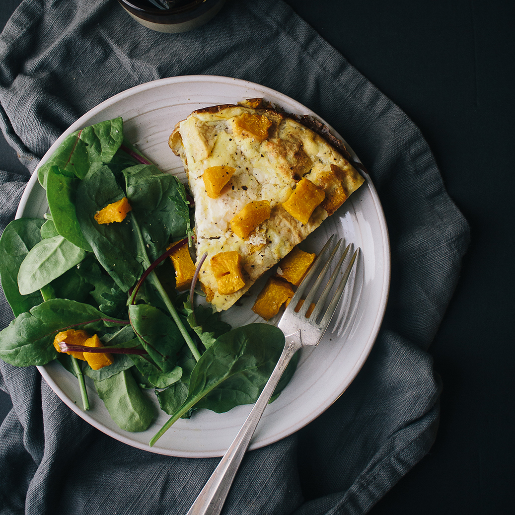 Pumpkin Ricotta and Apple Frittata