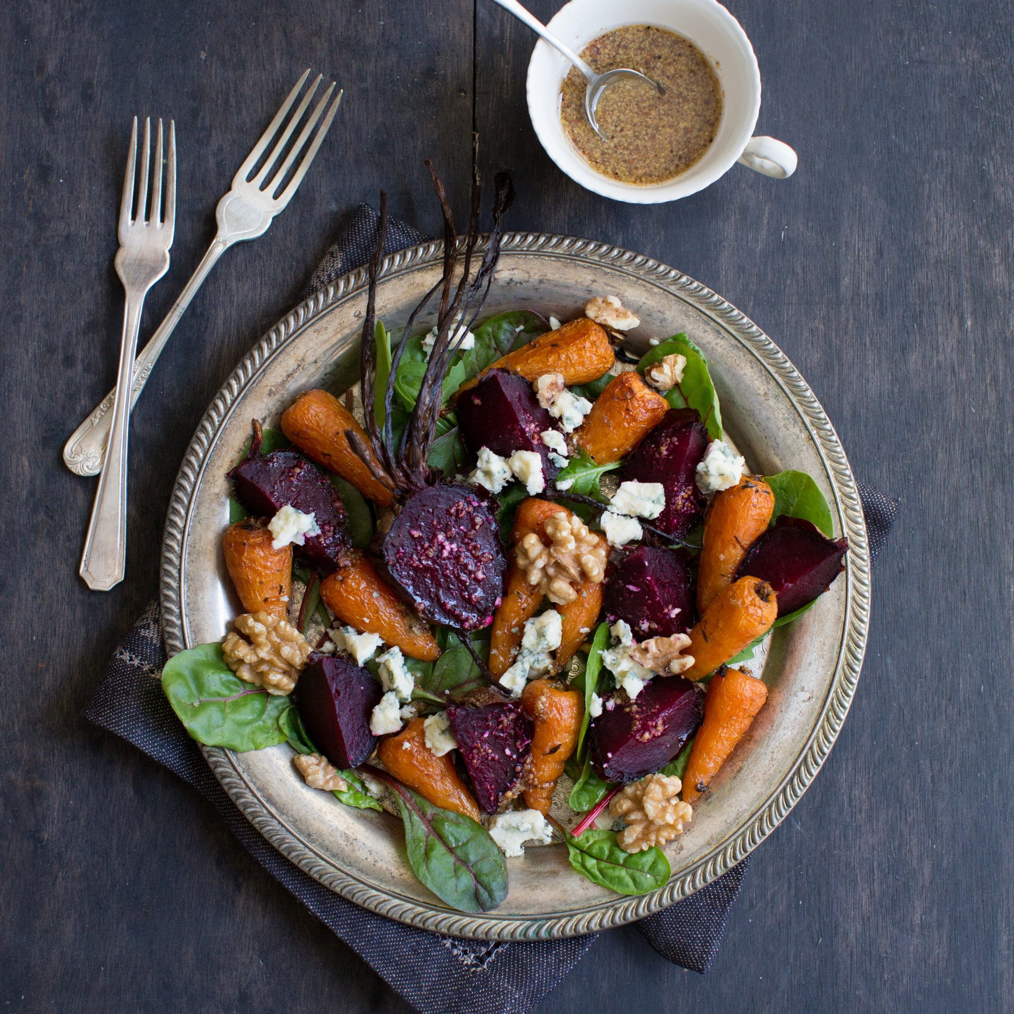 British Roast Vegetable Salad with Stilton