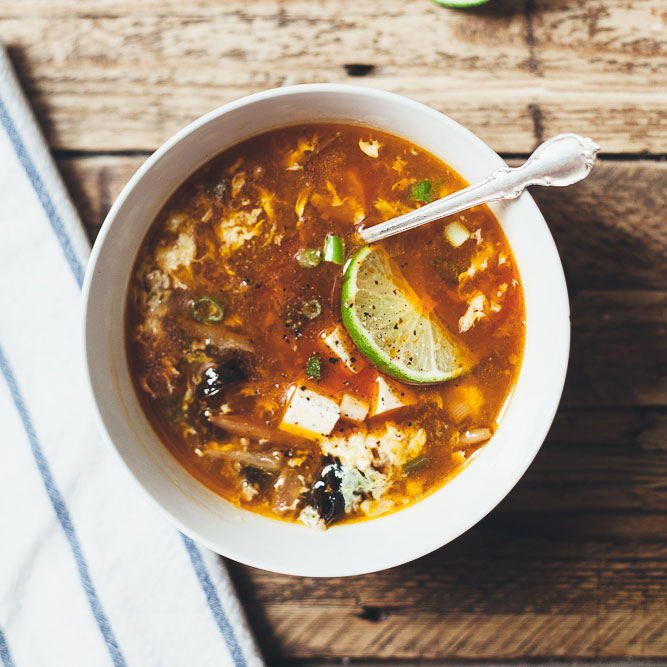 Hot and Sour Soup with Lime