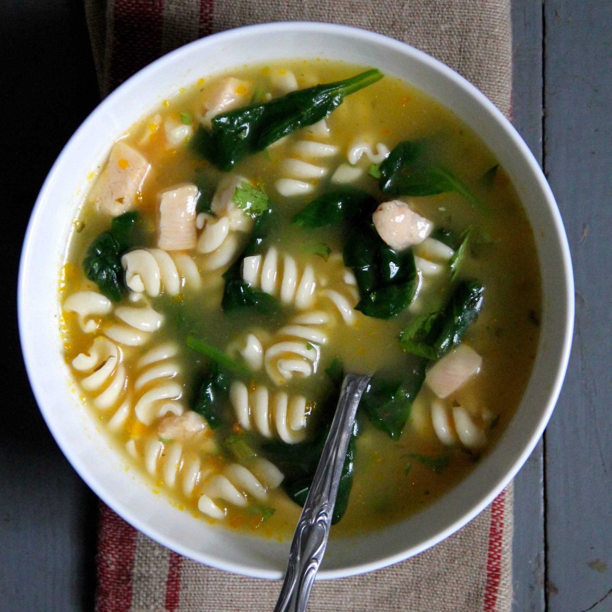 Baby Spinach Chicken Noodle Soup