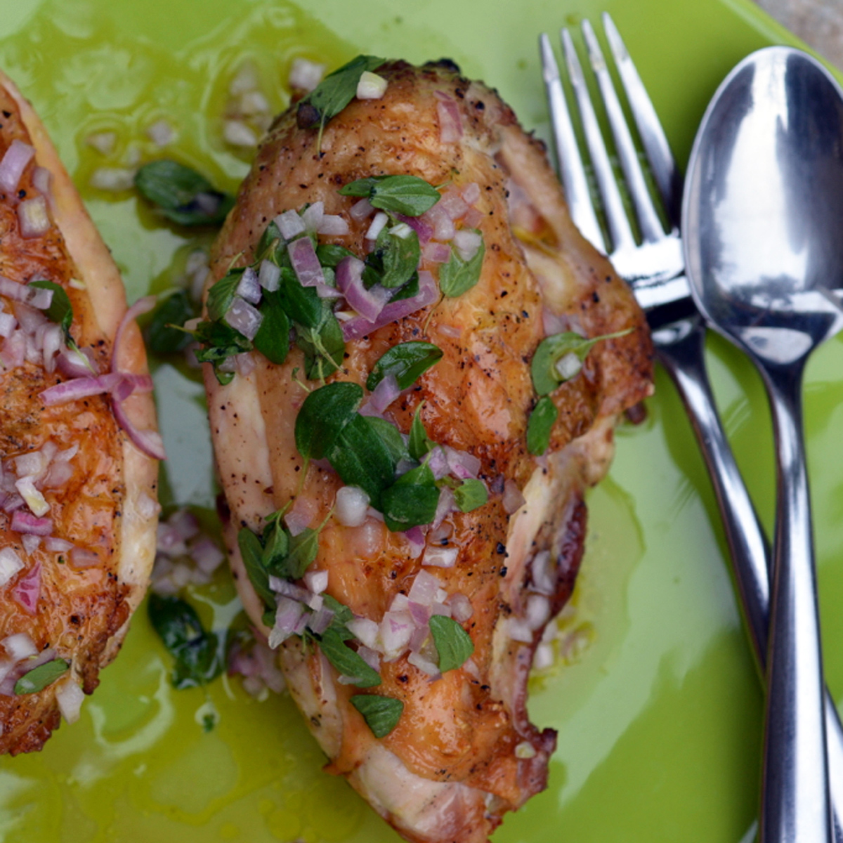 Grilled Chicken with Oregano