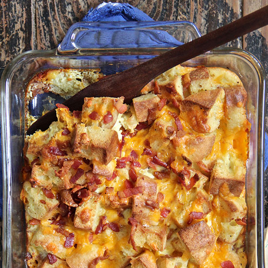 Nook and Cranny Breakfast Sandwich Bread Pudding
