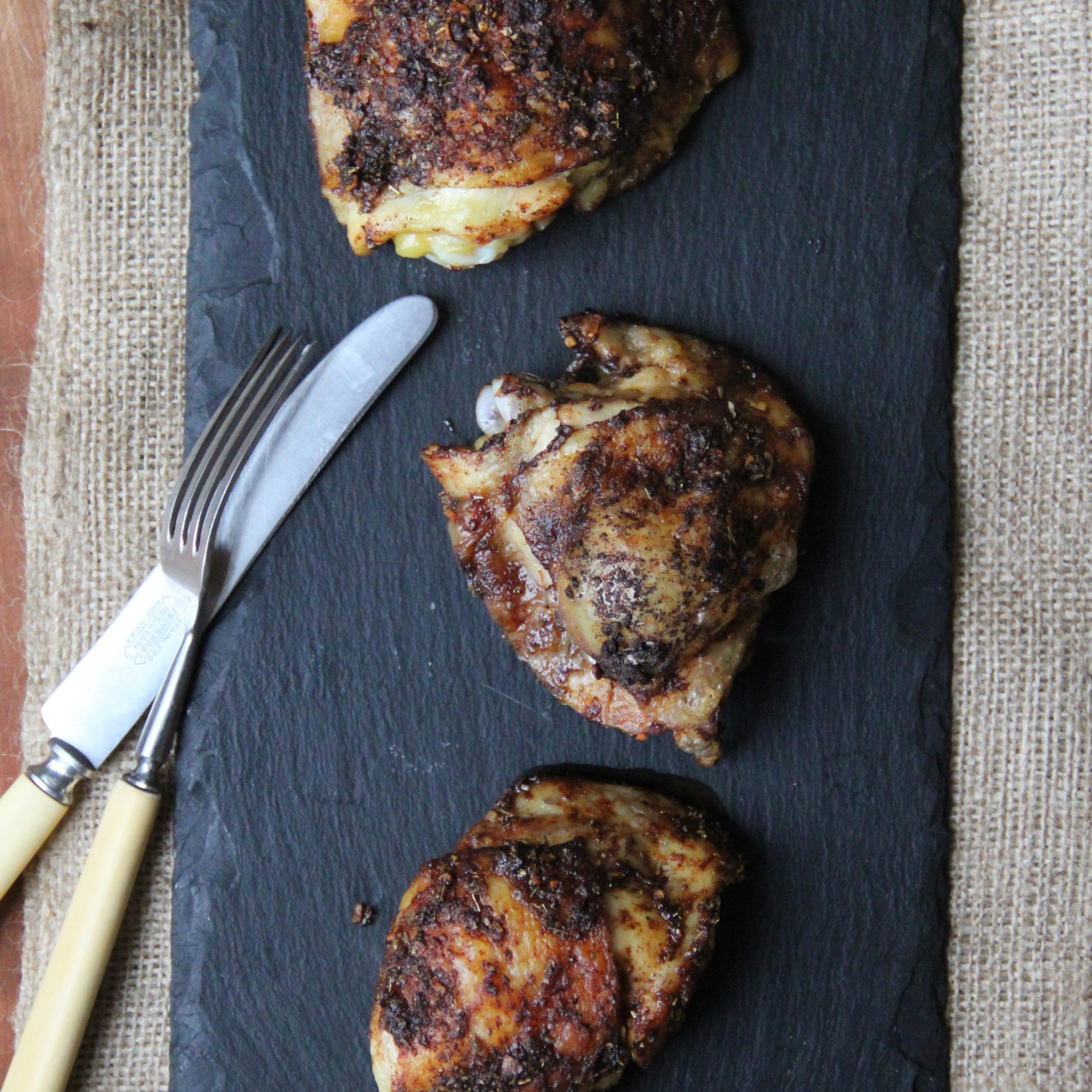 Roast Creole Chicken Thighs
