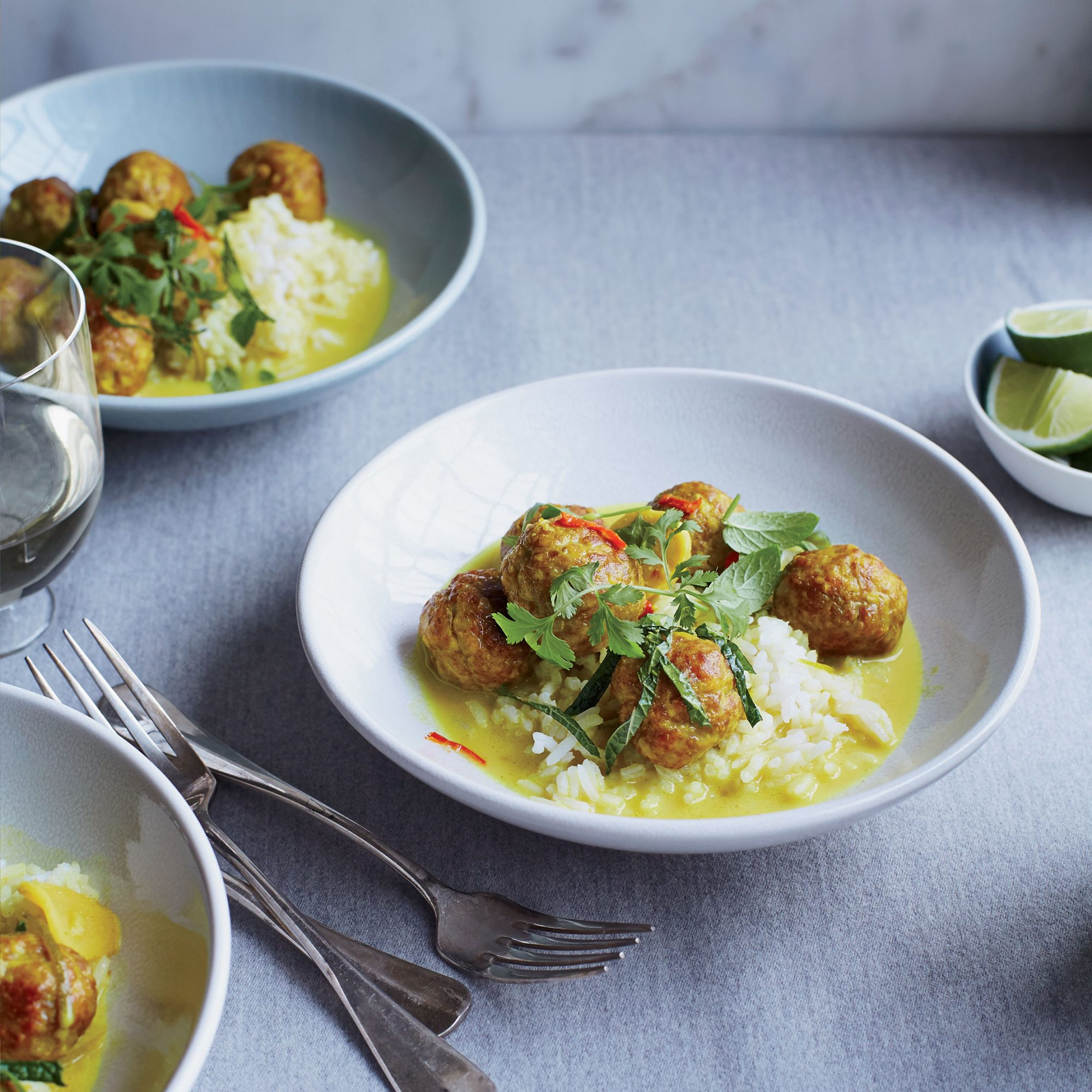 Ginger-Braised Pork Meatballs in Coconut Broth