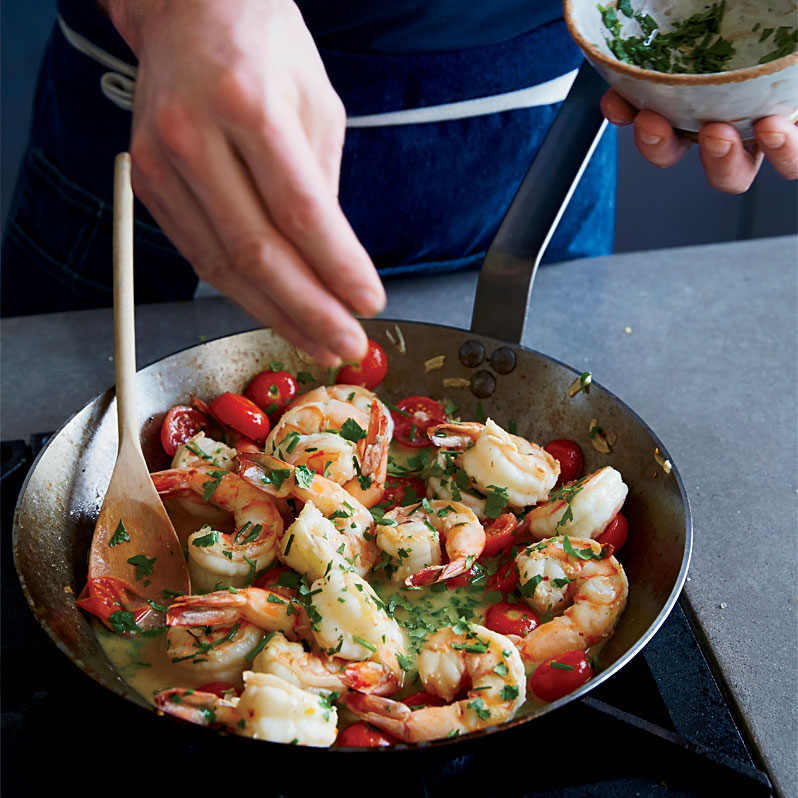 Jumbo Shrimp with Garlic and Chile Butter