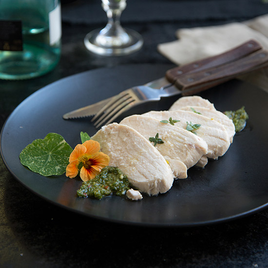 Poached Chicken Breast with Italian Salsa Verde