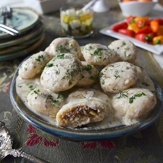 Kurdish Dumplings in Yogurt