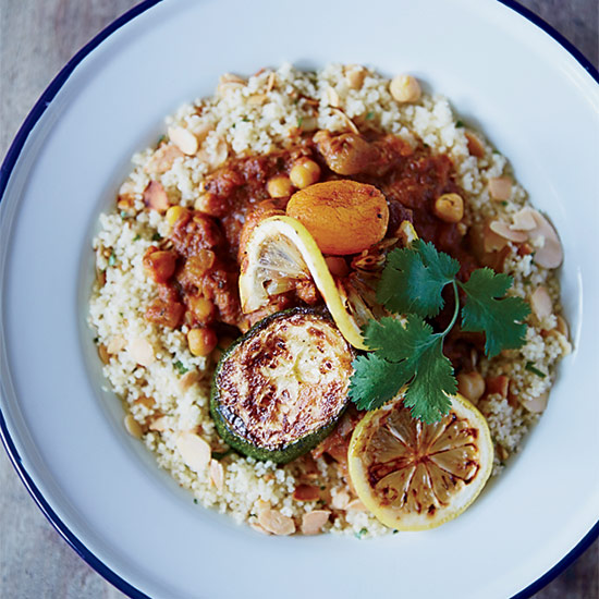 Lamb-and-Apricot Tagine with Almond Couscous