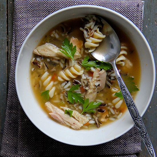 Chicken Noodle and Wild Rice Soup