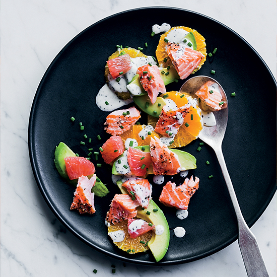 Salmon-and-Citrus Salad with Poppy Seed Dressing