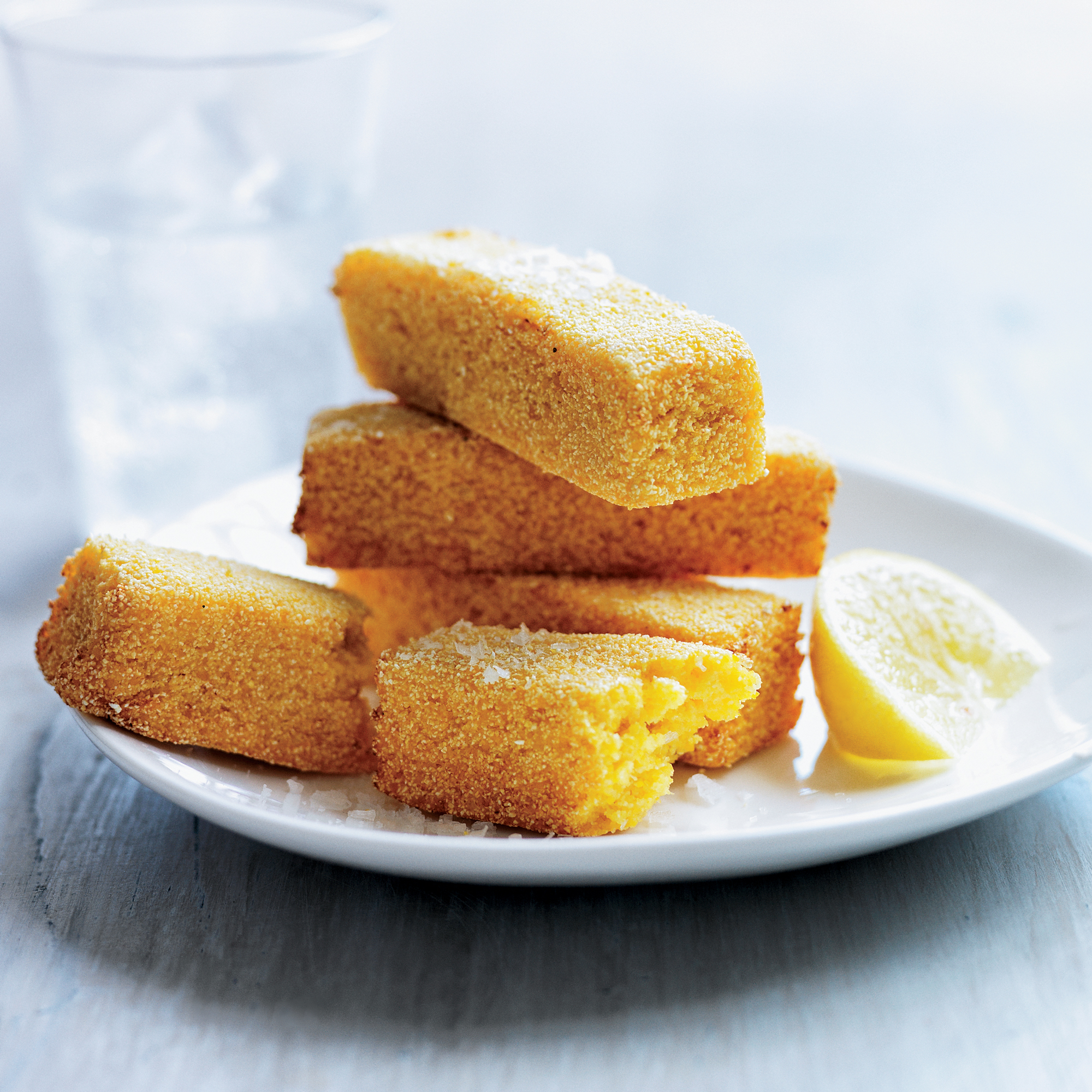Deep-fried polenta recipe by Wylie Dufresne