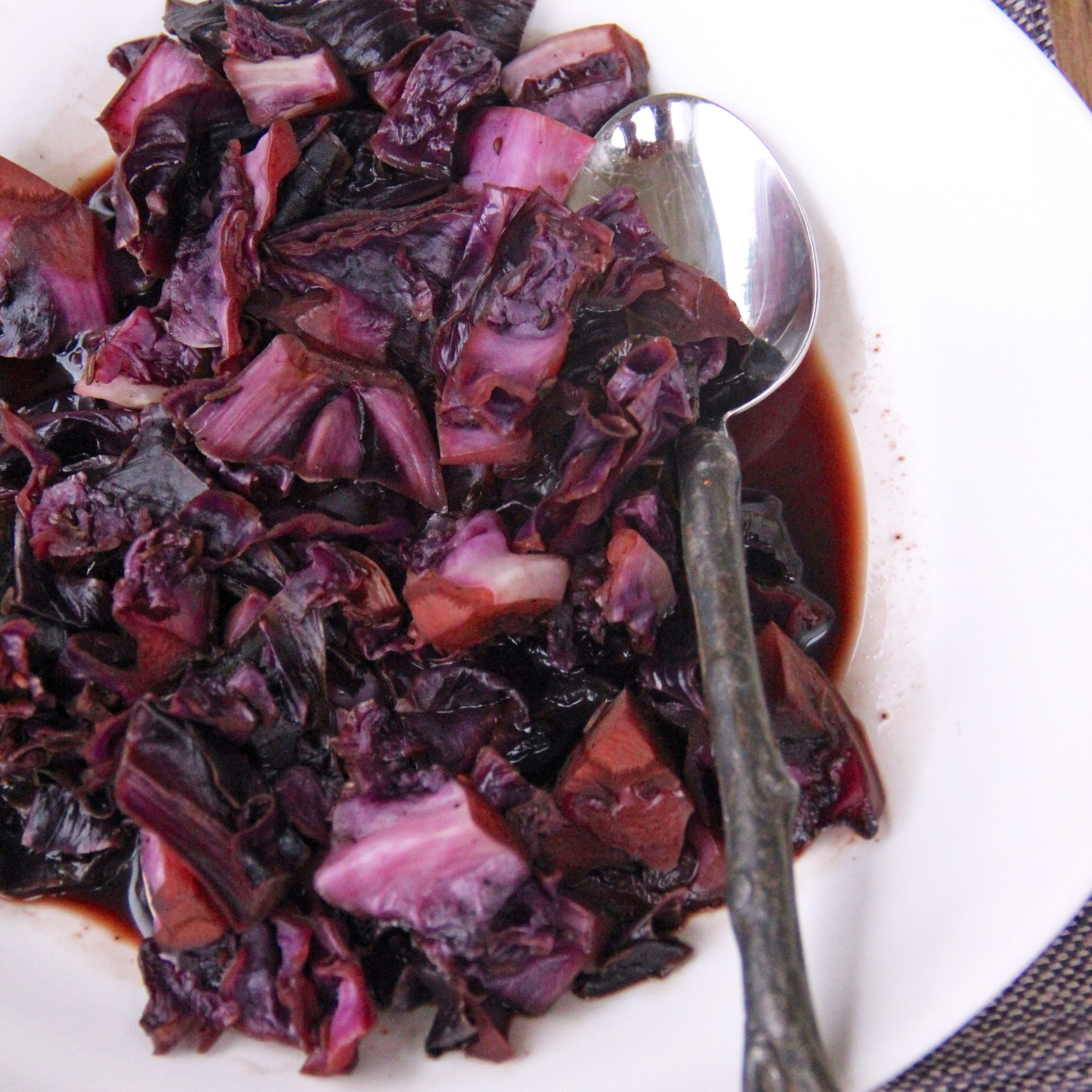 Balsamic-Caraway Red Cabbage