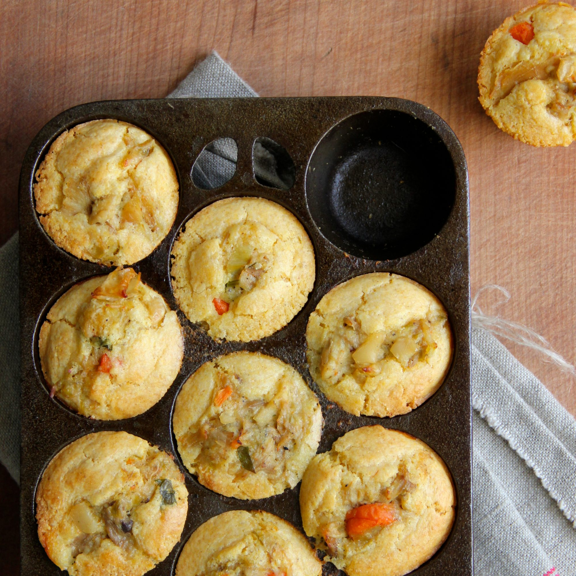Chicken Pot Pie Cornbread Muffins