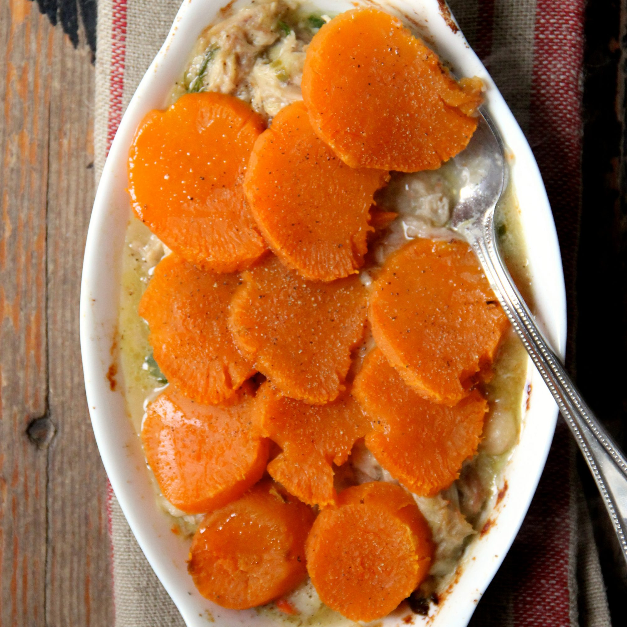 Sweet Potato Topped Chicken Pot Pie