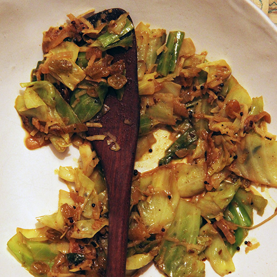 Indian-Spiced Cabbage