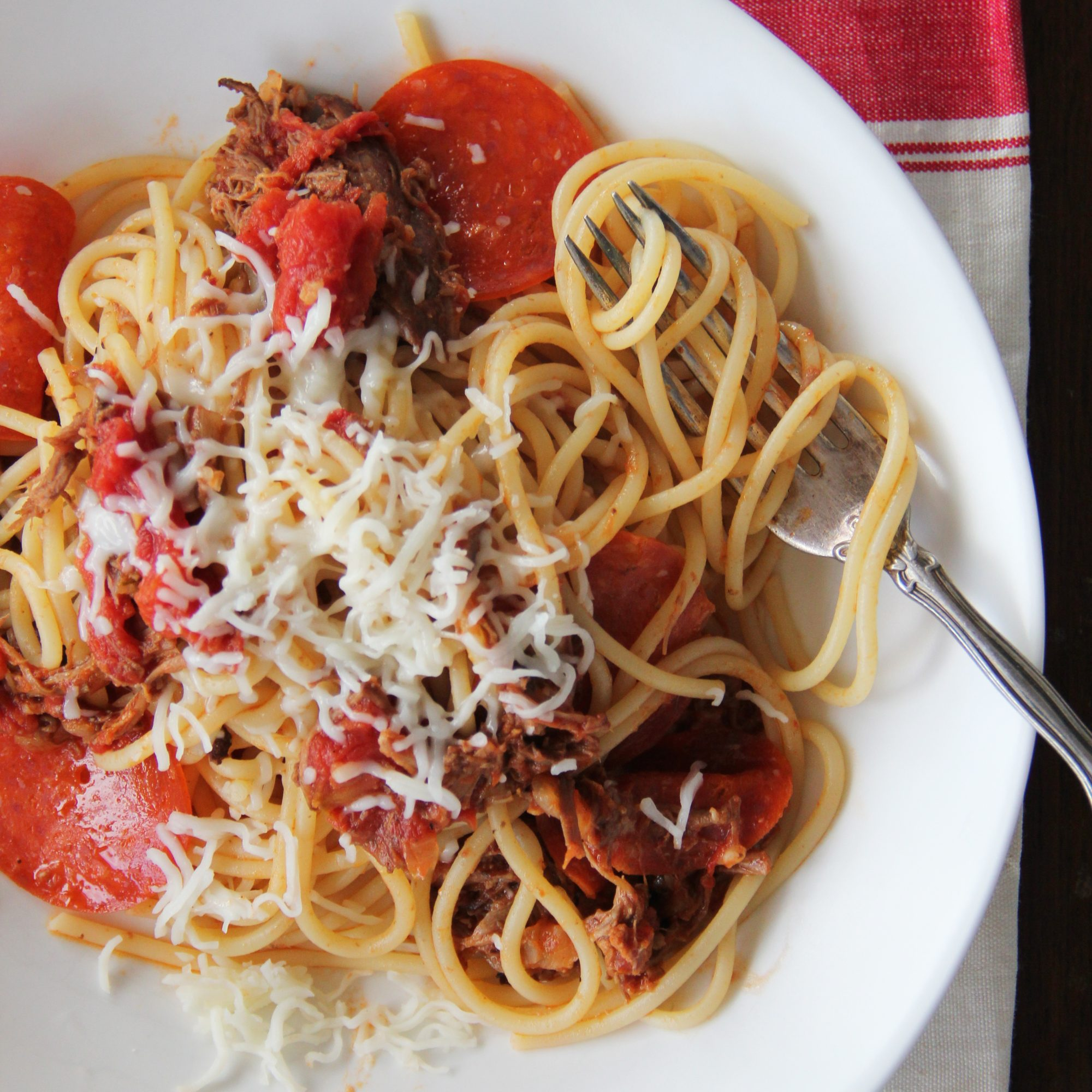 Meat Lovers Pizza Spaghetti