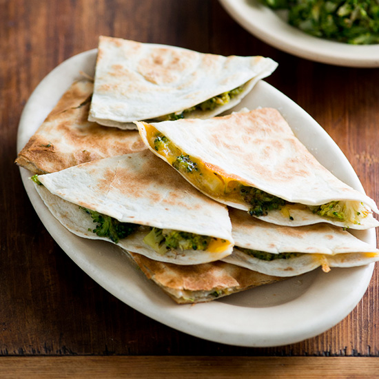 Broccoli and Cheese Quesadillas