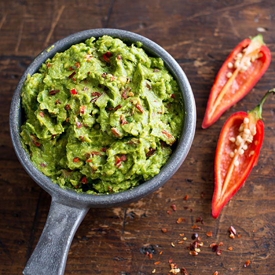 Spicy Three-Pepper Guacamole