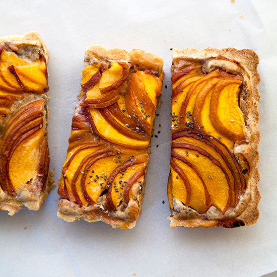 Peach and Chia Seed Frangipane Tart
