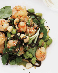 Rock Shrimp Poke with Ginger, Soy Sauce and Hijiki
