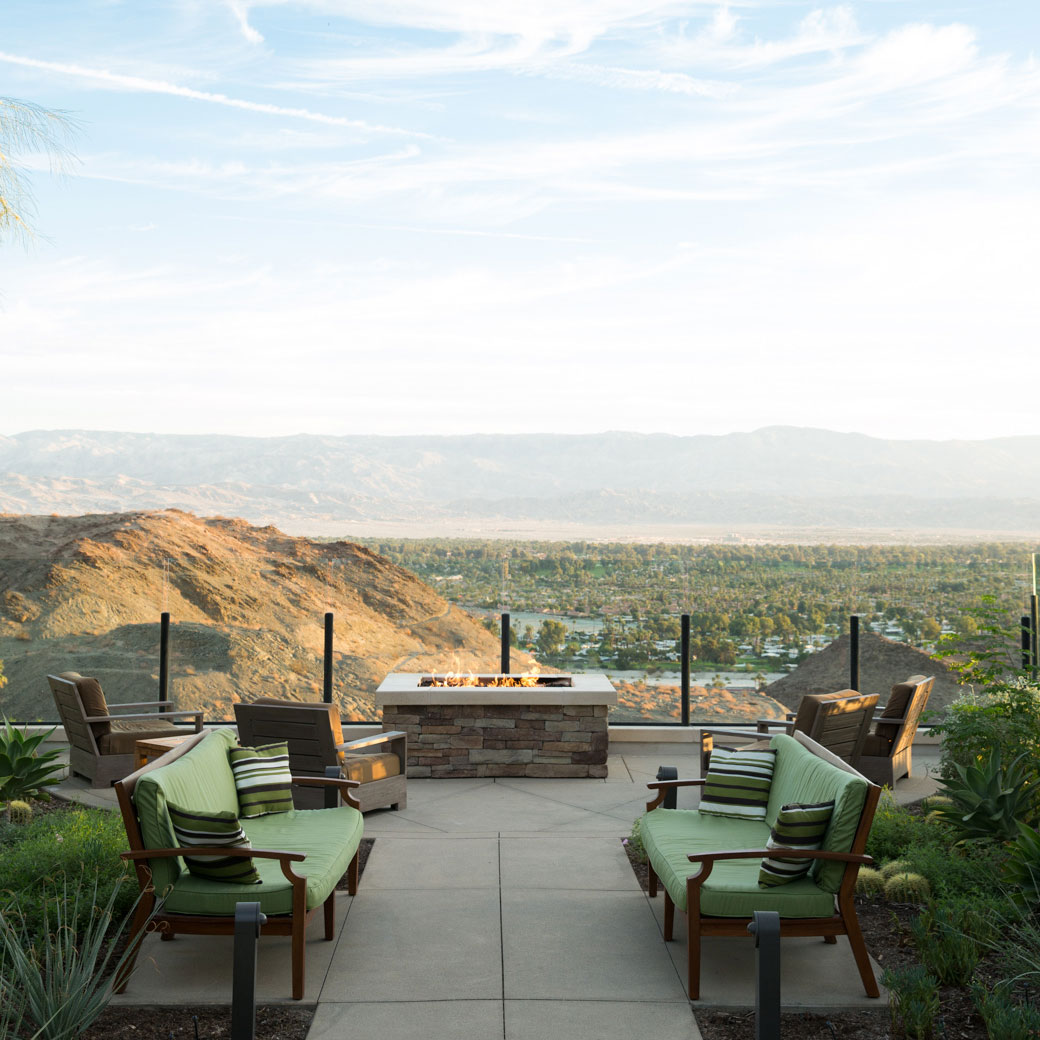 Palm Springs hotel Ranch Mirage has views over Coachella Valley.