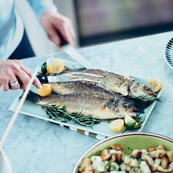 Roasted Branzino with Caper Butter
