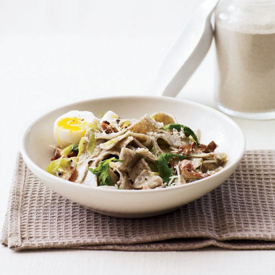 Day 9: Creamy Buckwheat Pasta with Wild Mushrooms