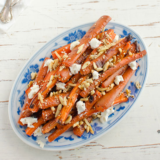 Roasted Carrot Salad with Toasted Quinoa and Goat Cheese