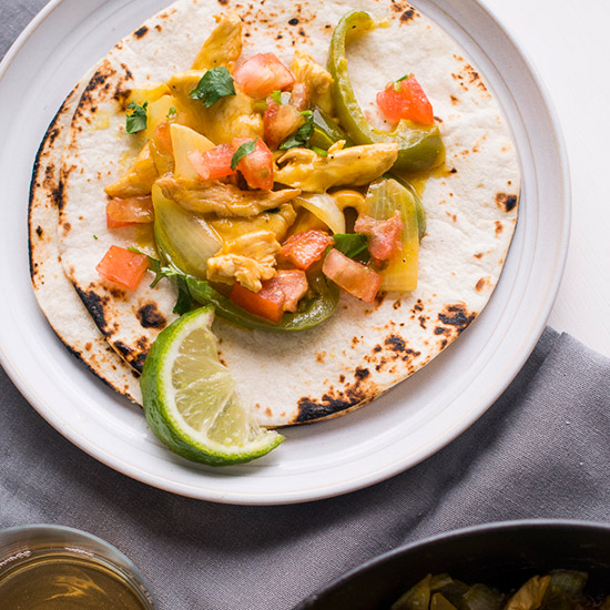 Honey Mustard Chicken Fajitas