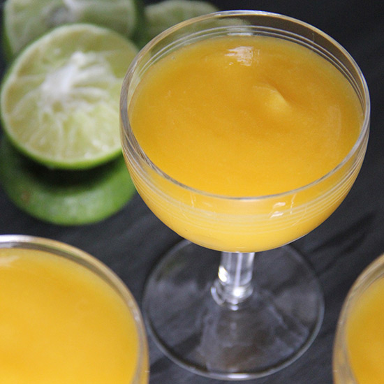 Mango-Elderflower Margaritas