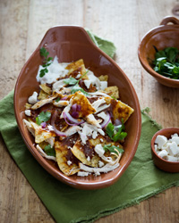 An Easy Chicken Chilaquiles Recipe for Drew Barrymore