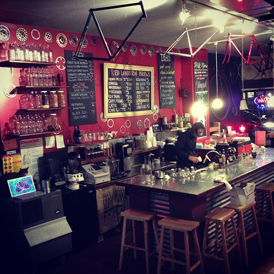 Quirky Coffee Shops: Red Lantern Bicycles