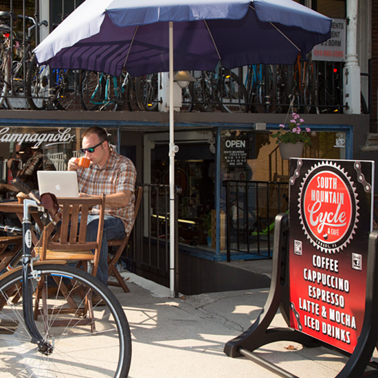 Quirky Coffee Shops: South Mountain Cycle & Coffee Bar