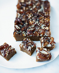 Date-and-Almond Fudge with Sesame and Coconut