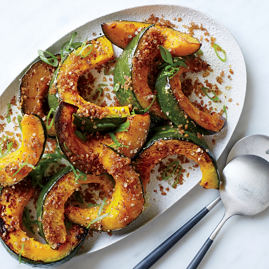 Roasted Squash with Crispy Bulgur Crumbs