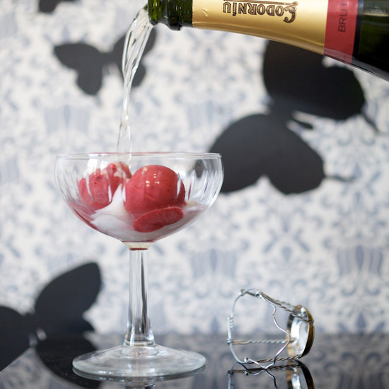 Black Pepper–Raspberry Sorbet with Prosecco