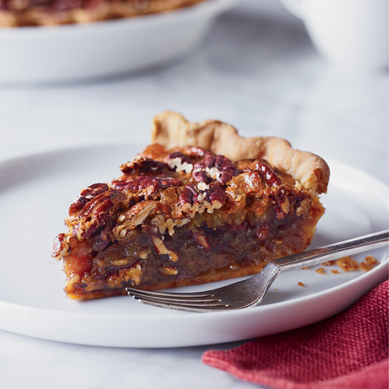 Pecan Pie with Candied Ginger and Rum