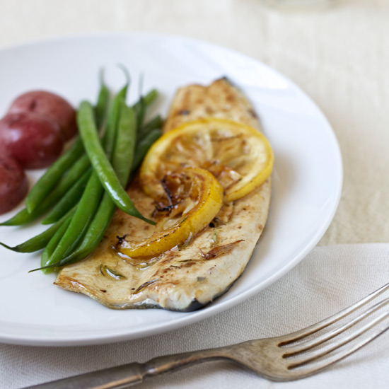 Grilled Trout with Savory Marinade