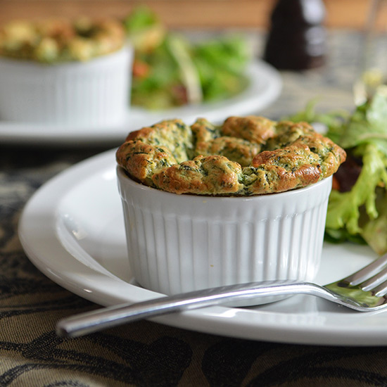 Easy Spinach Soufflés