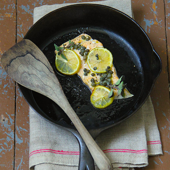 Caper and Lemon Baked Salmon