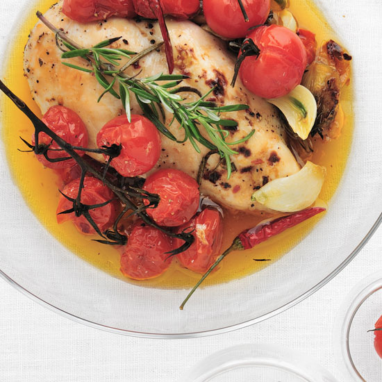 Honey-Rosemary Chicken with Cherry Tomatoes
