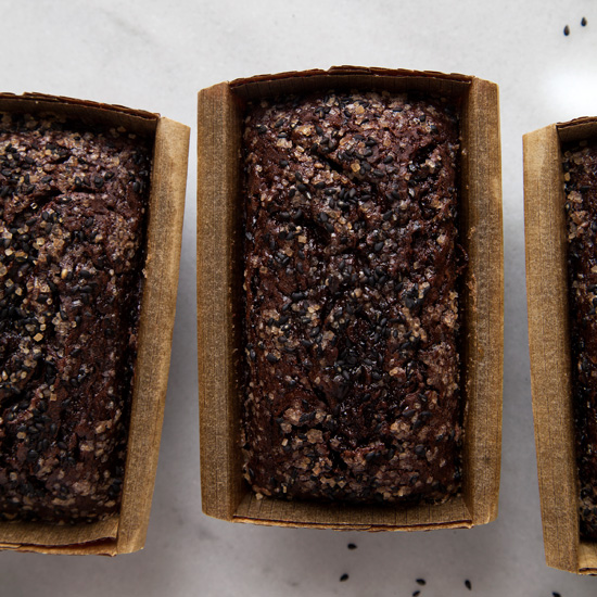 Black Sesame Chocolate-Banana Loaf Cakes