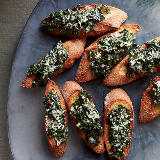 Creamed Kale Toasts