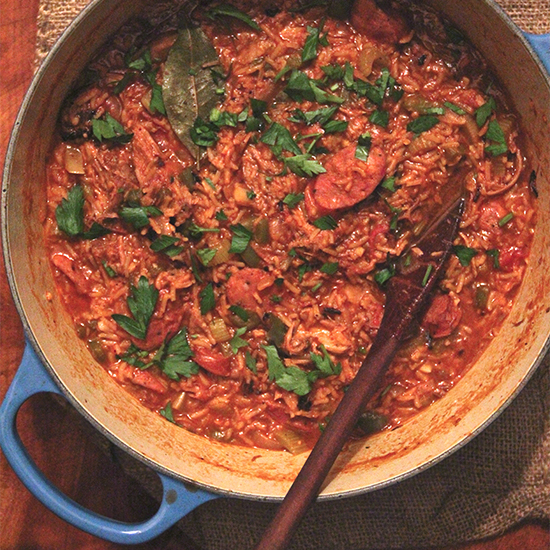 Slow-Roasted Pork Jambalaya