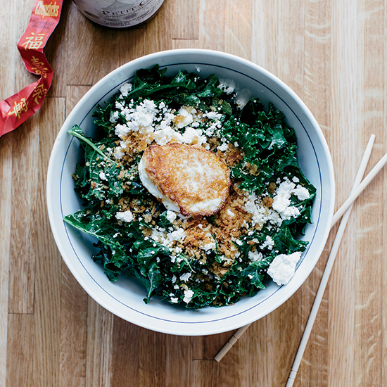 Kale Salad with Garlicky Panko