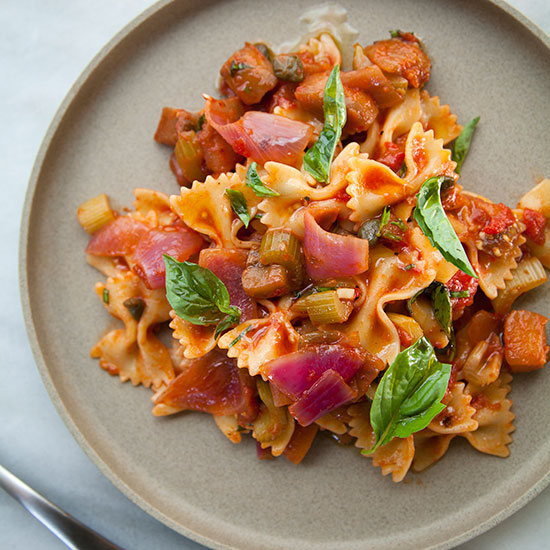 Farfalle with Caponata